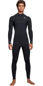 2019 Billabong Mens Furnace Ultra 4/3mm Chest Zip Wetsuit Black Q44M02