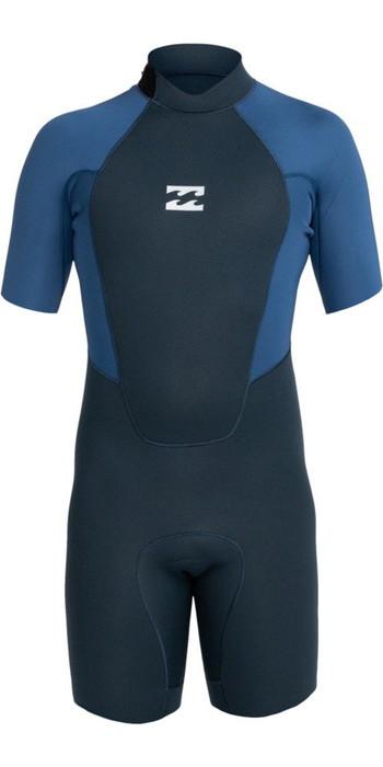 2021 Billabong Mens Intruder 2mm Back Zip Shorty Wetsuit 042M19 - Navy