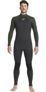 2021 Billabong Mens Intruder 5/4mm Back Zip GBS Wetsuit 045M18 - Antique Black