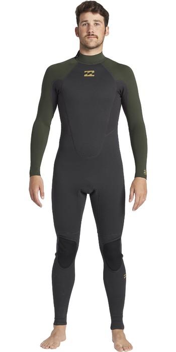 2021 Billabong Mens Intruder 5/4mm Back Zip GBS Wetsuit 045M18 - Antique Black