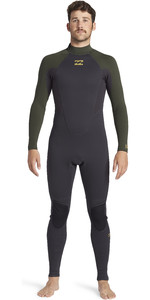 2020 Billabong Mens Intruder 3/2mm Back Zip GBS Wetsuit 043M18 - Antique Black