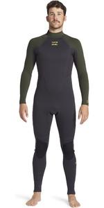 2020 Billabong Mens Intruder 3/2mm Back Zip GBS Wetsuit 043M18 - Antique Black