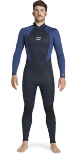 2021 Billabong Mens Intruder 5/4mm Back Zip GBS Wetsuit 045M18 - Navy