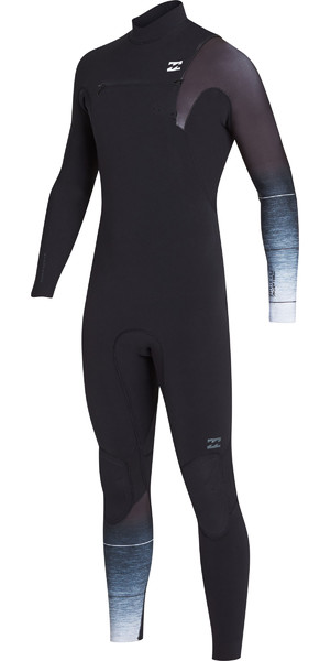 2019 Billabong Mens 3/2mm Pro Series Chest Zip Wetsuits Black / Fade N43M01