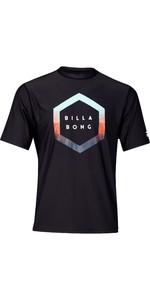2019 Billabong Mens Rotated Short Sleeve Rash Vest Black N4MY10