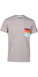 2019 Billabong Mens Team Pocket Surf Rash Tee Grey Heather N4EQ01