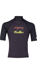 2019 Billabong Mens Team Wave Short Sleeve Rash Vest Black Heather N4MY02