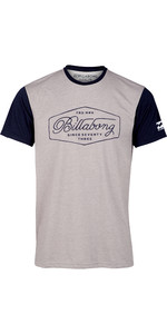 2019 Billabong Mens Trademark Surf Rash Tee Grey Heather N4EQ02
