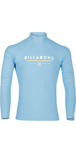 2019 Billabong Mens Unity Long Sleeve Printed Rash Vest Aqua Blue N4MY06