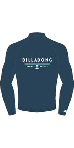 2019 Billabong Mens Unity Long Sleeve Printed Rash Vest Navy N4MY06