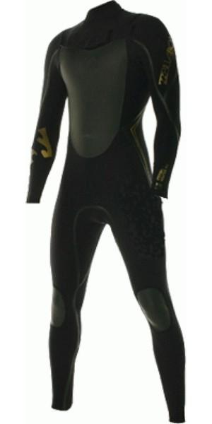 Billabong Solution Gold 3/2mm ZIPPERLESS Steamer Wetsuit A / B43M04 BLACK