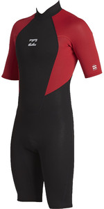 2020 Billabong Toddler Intruder 2mm Back Zip Shorty Wetsuit 042T19 - Red