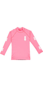 2019 Billabong Toddler Logo Long Sleeve Rash Vest Tahiti Pink N4TY03