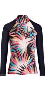 2019 Billabong Womens Flower Long Sleeve Rash Vest Multi N4GY04