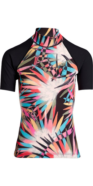 2019 Billabong Womens Flower Short Sleeve Rash Vest Multi N4GY03
