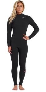 2020 Billabong Womens Furnace Comp 4/3mm Chest Zip GBS Wetsuit U44G32 - Black