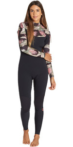 2019 Billabong Womens Furnace Carbon 5/4mm Chest Zip Wetsuit Black Palm Q45G31