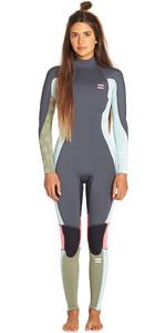 2019 Billabong Womens Furnace Synergy 3/2mm Back Zip Flatlock Wetsuit Seafoam N43G45