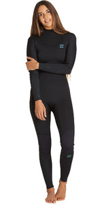 2020 Billabong Womens Furnace Synergy 4/3mm Back Zip Wetsuit Black Q44G04