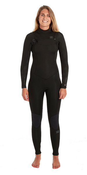2019 Billabong Womens Furnace Synergy 3/2mm Chest Zip GBS Wetsuit Black Palms N43G03
