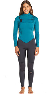 2019 Billabong Womens Furnace Synergy 3/2mm Chest Zip GBS Wetsuit Pacific N43G03