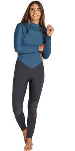2019 Billabong Womens Furnace Synergy 4/3mm Chest Zip Wetsuit Black Marine Q44G32