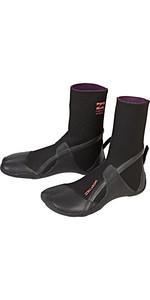 2019 Billabong Womens Furnace Synergy 3mm Split Toe Boots Black Q4BT20