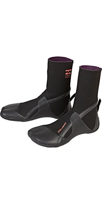 2020 Billabong Womens Furnace Synergy 3mm Split Toe Boots Black Q4BT20