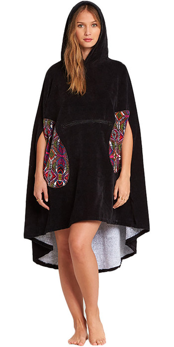 Billabong Womens Hooded Poncho Black L4BR10