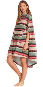2018 Billabong Womens Hooded Poncho Sugarpine L4BR10