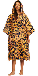 2021 Billabong Womens Hooded Towel Robe Poncho Z4BR40 - Animal