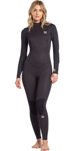 2020 Billabong Womens Launch 4/3mm Back Zip GBS Wetsuit 044G18 - Antique Black
