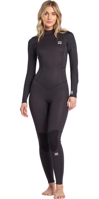 2021 Billabong Womens Launch 4/3mm Back Zip GBS Wetsuit 044G18 - Antique Black