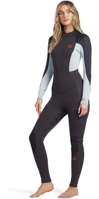 2021 Billabong Womens Launch 5/4mm Back Zip GBS Wetsuit 045G18 - Grey