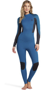 2021 Billabong Womens Launch 4/3mm Back Zip GBS Wetsuit 044G18 - Pacific