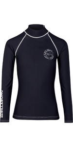 2019 Billabong Womens Logo In Long Sleeve Rash Vest Black Pebble N4GY02
