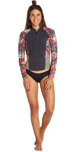 2019 Billabong Womens Peeky 1mm Neoprene Jacket Tropical Q42G05