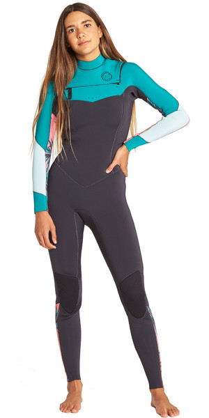 2019 Billabong Womens Salty Dayz 3/2mm Chest Zip Wetsuit Palm Green N43G30