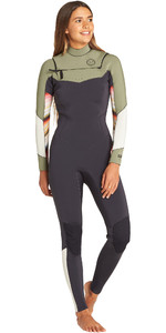 2019 Billabong Womens Salty Dayz 4/3mm Chest Zip Wetsuit Serape N44G31