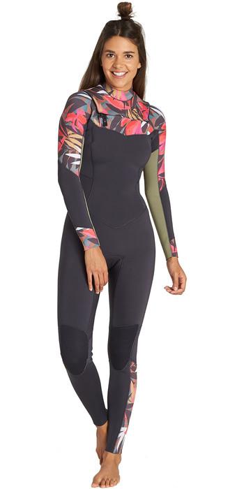 2019 Billabong Womens Salty Dayz 5/4mm Chest Zip Wetsuit Tropical Q45G30