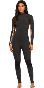 2021 Billabong Womens Salty Dayz 5/4mm Chest Zip Wetsuit Z45G10 - Animal