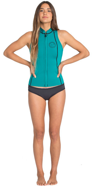 2019 Billabong Womens Salty Daze 1mm Neoprene Vest Palm Green N41G02