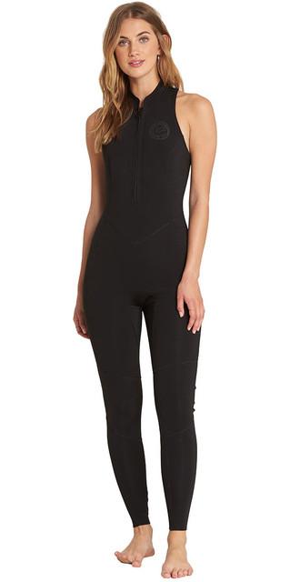 2018 Billabong Womens Salty Jane 2mm Sleeveless Wetsuit Black L42g01 Picture