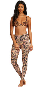 2021 Billabong Womens Skinny Sea Legs Wetsuit Trousers Z41G15 - Animal