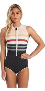 2020 Billabong Womens Sol Sistah 2mm Shorty Wetsuit U41G34 - Stripe