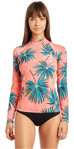 2019 Billabong Womens Surf Capsule Long Sleeve Rash Vest Palm N4GY06