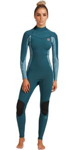 2021 Billabong Womens Synergy 5/3mm Back Zip Wetsuit W45G52 - Blue Seas