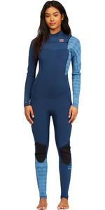 2021 Billabong Womens Synergy 5/4mm Chest Zip Wetsuit Z45G14 - Blue Wave