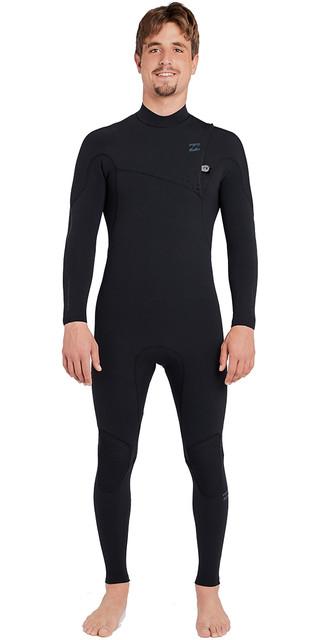 2018 Billabong Furnace Carbon Comp 3/2mm Ziperless Wetsuit Black L43m03 Picture