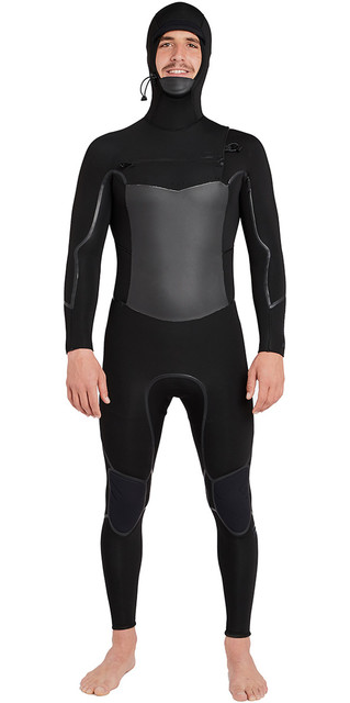 2018 Billabong Furnace Absolute X Hooded 5/4mm Chest Zip Wetsuit Black L45m08 Picture